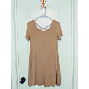 Forever 21 Tan Cross-Back Dress